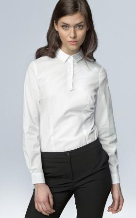 Modna koszula z długim rękawem - biały