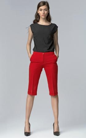 Spodnie bermudy - czerwony