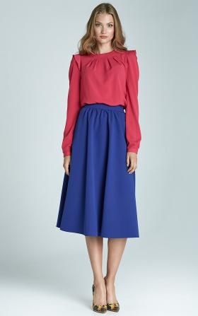 Modna spódnica Midi  - niebieski