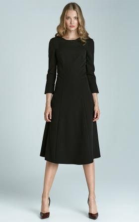 Sukienka trapezowa Midi - czarny