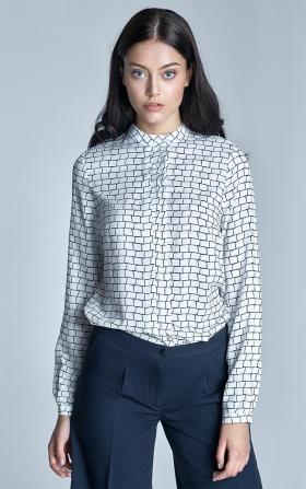 Bluzka z plisami na dekolcie - wzór