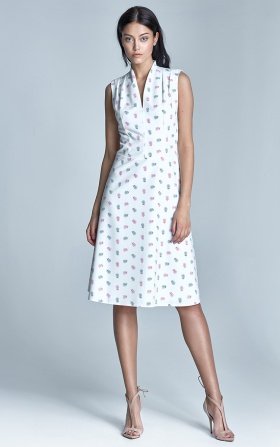 Sukienka Spring - ecru/róż