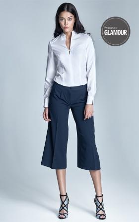 Spodnie culottes - granat