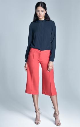 Spodnie culottes - koral