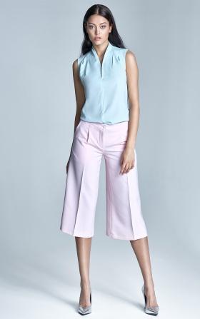 Spodnie culottes  - róż