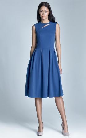 Sukienka midi Ann - niebieski