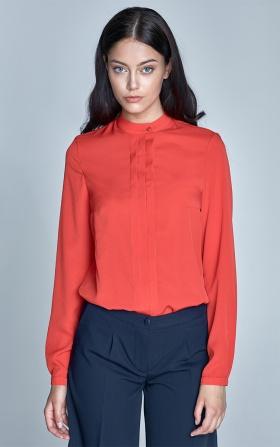 Bluzka z zakładkami - pomarańcz