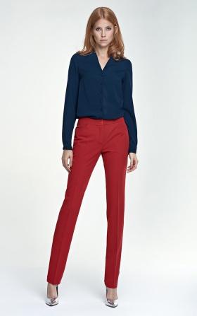 Eleganckie spodnie  - czerwony