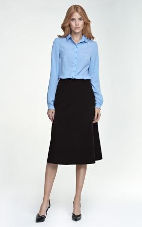 Klasyczna spódnica Midi - czarny