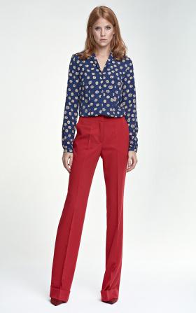 Spodnie z mankietem - czerwony
