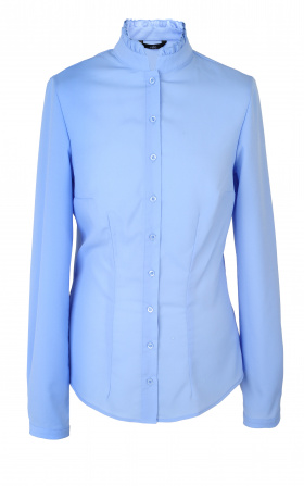 Bluzka ze stójką - błękit
