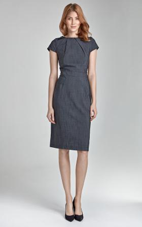Elegancka sukienka VICTORIA - szary