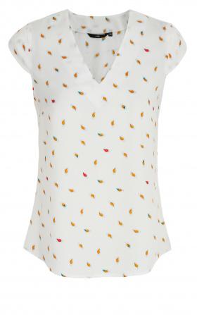 Bluzka z modnym dekoltem w kształcie litery V - liście