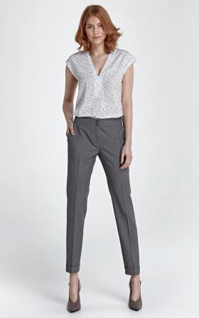 Spodnie z mankietami - szary