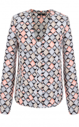 Bluzka z pionową lamówką i guziczkami- wzór