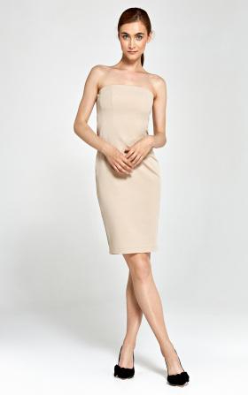 Sukienka tuba- beż