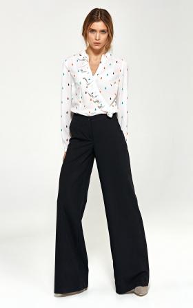 Spodnie typu palazzo - czarny