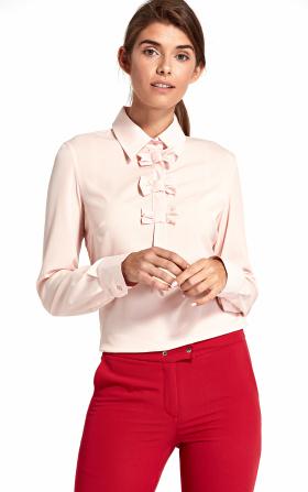 Bluzka z kokardkami - róż