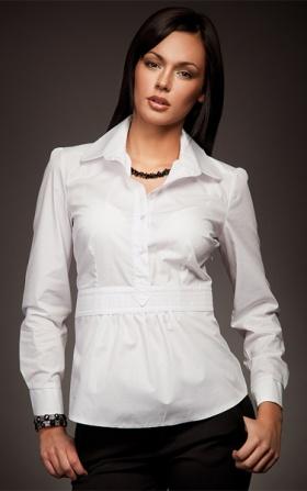 Wyjątkowa koszula w modnym fasonie - biały
