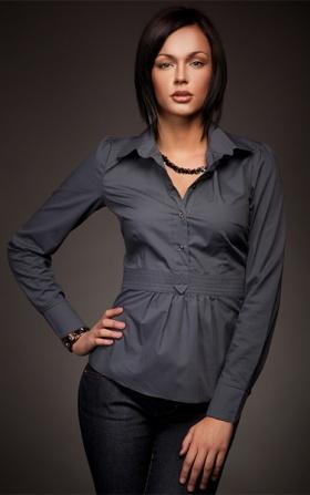 Wyjątkowa koszula w modnym fasonie - szary
