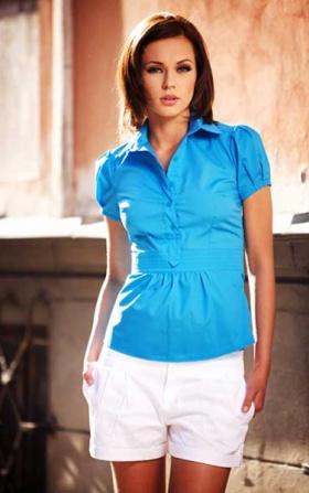 Koszula Claudia - niebieski