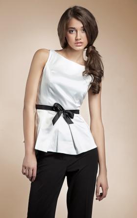 Bluzka baskinka - biały