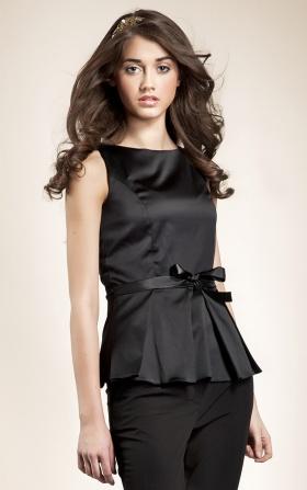 Bluzka baskinka - czarny