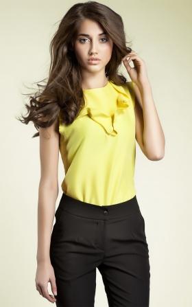 Bluzeczka z falbanką - żółty