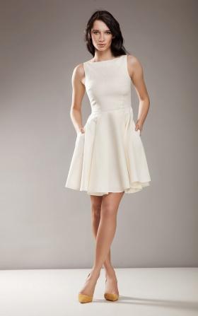 Stylowa sukienka AUDREY - krem