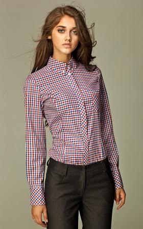 Koszula w modną kratę - czerwona