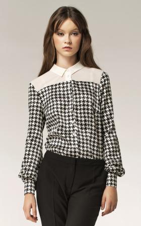 Dwukolorowa koszula - wzór