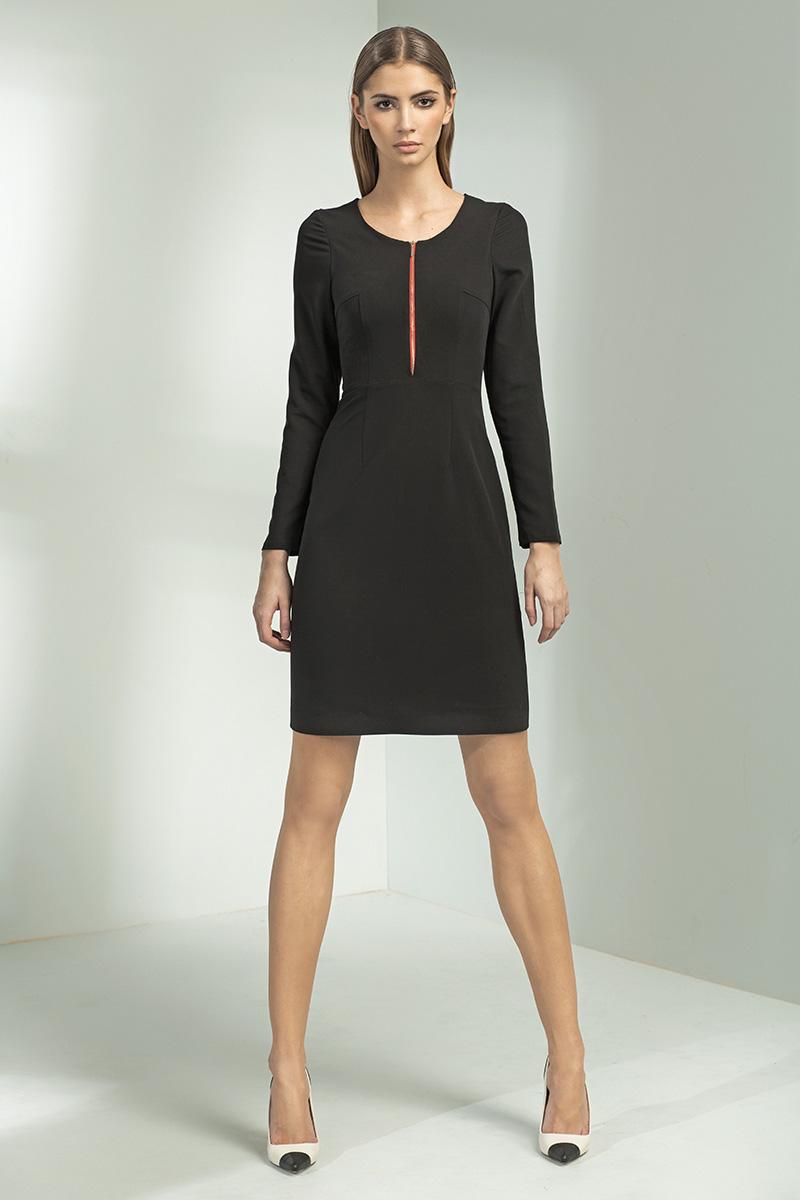Купить Черное Строгое Платье