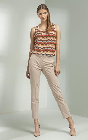 Klasyczne eleganckie spodnie - beż