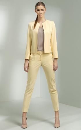 Klasyczne eleganckie spodnie - żółty