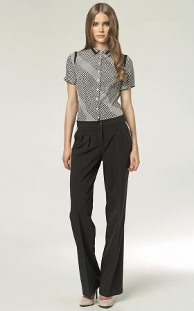 Spodnie z zakładkami - szwedy - czarny
