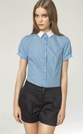 Koszula z krótkim rękawem - niebieski