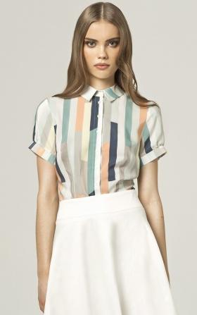 Koszula z krótkim rękawem - paski