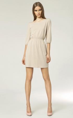 Modna sukienka - beż