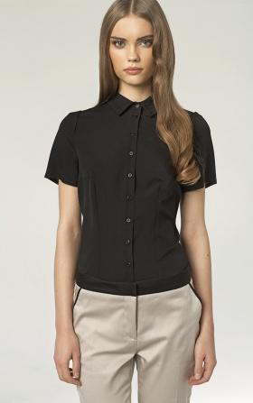 Koszula z lamówką - czarny