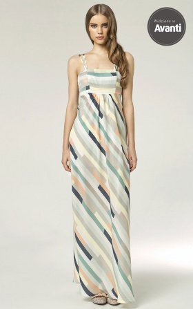 Sukienka MAXI - paski