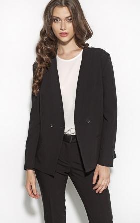 Elegancki długi żakiet - czarny