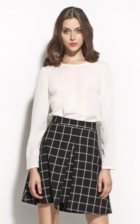 Checkered pleated skirt - black/checkered