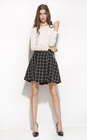 Checkered skirt - black/checkered