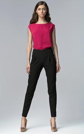Spodnie z wysokim stanem - czarny