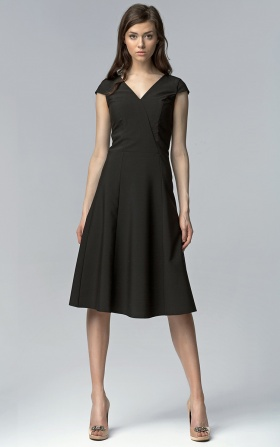 Sleeveless MIDI dress  - black