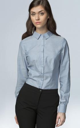 Klasyczna taliowana koszula - błękit