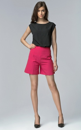 High-waisted shorts - fuchsia