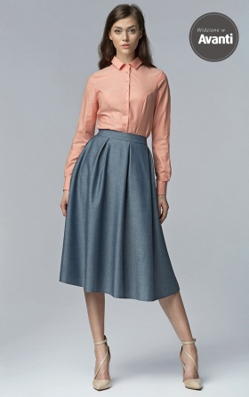 MIDI skirt with pockets - jeans