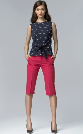Spodnie bermudy - fuksja