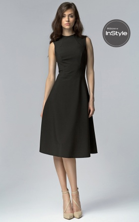 Czarna elegancka sukienka MIDI